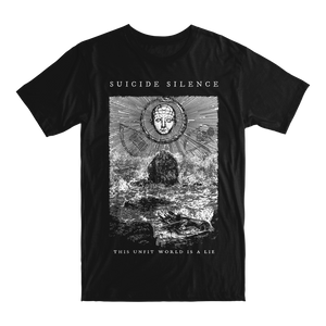 Official Suicide Silence Store 'Unfit World' Tee, Official Merch, Official Store, Official Shop, Hoodies, Official Merchandise, T-shirts, Hoodies, Jackets, Shirts, Mitch Lucker, killermerch.com, Killer Merch