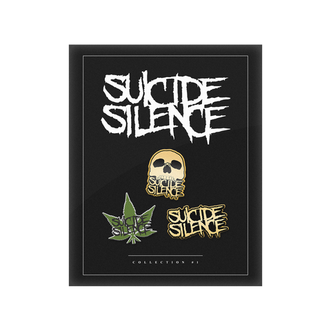 Official Suicide Silence Store Pins Collection, Official Merch, Official Store, Official Shop, Hoodies, Official Merchandise, T-shirts, Hoodies, Jackets, Shirts, Mitch Lucker, killermerch.com, Killer Merch
