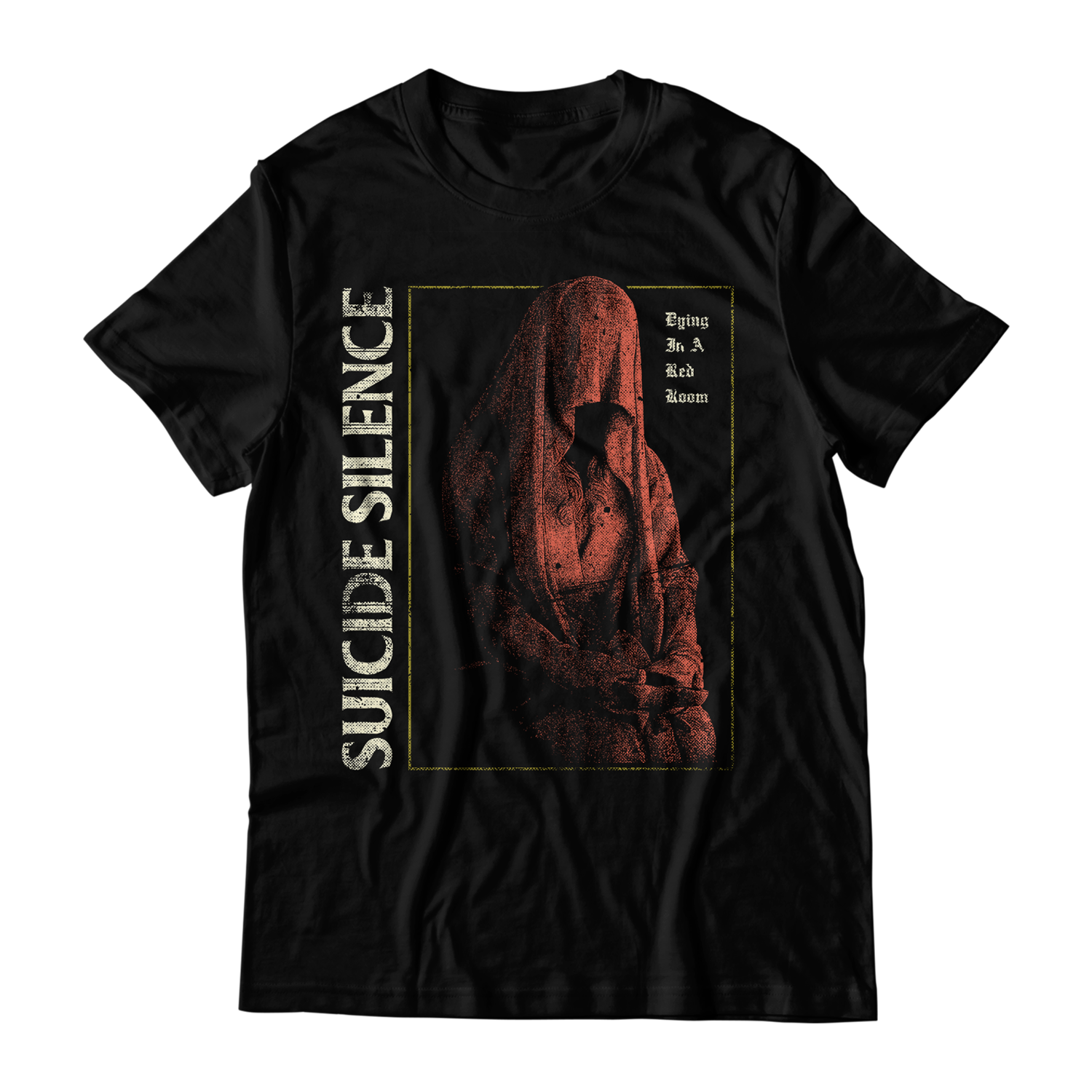 Official Suicide Silence Store 'Red Room' Tee, Official Merch, Official Store, Official Shop, Hoodies, Official Merchandise, T-shirts, Hoodies, Jackets, Shirts, Mitch Lucker, killermerch.com, Killer Merch