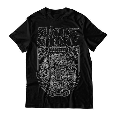 Official Suicide Silence Store Conformity Tee, Official Merch, Official Store, Official Shop, Hoodies, Official Merchandise, T-shirts, Hoodies, Jackets, Shirts, Mitch Lucker, killermerch.com, Killer Merch