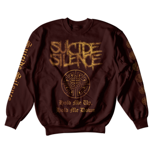 Official Suicide Silence Store 'Hold Me' Crewneck, Official Merch, Official Store, Official Shop, Hoodies, Official Merchandise, T-shirts, Hoodies, Jackets, Shirts, Mitch Lucker, killermerch.com, Killer Merch