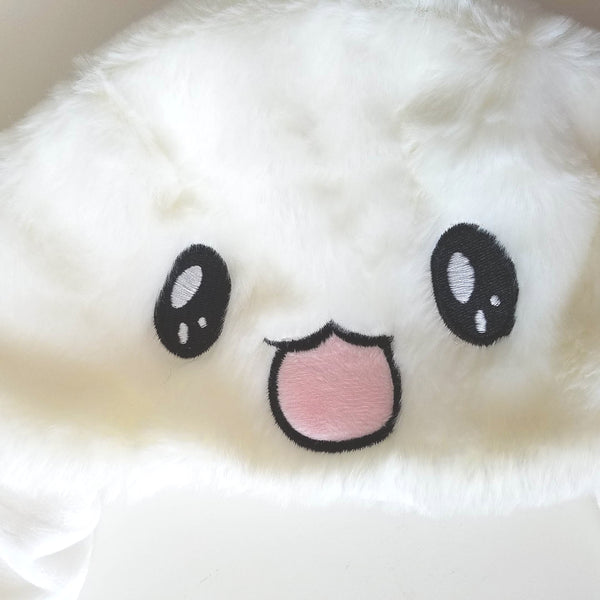 Plush Bunny Hat with Movable Ears