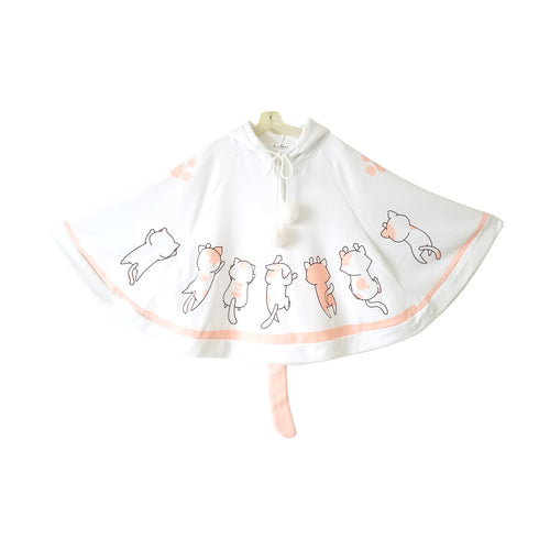 Kittens Overload Cape with Cat Ears and Tail