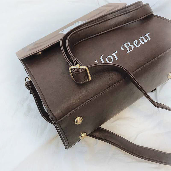 """Sailor Bear"" - Brown Crossbody Bag"