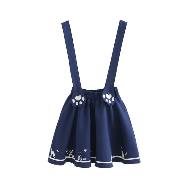 Kitty Paws Overall Skirt