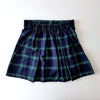 Green & Navy Signature Tartan A-Line Mini-Skirt