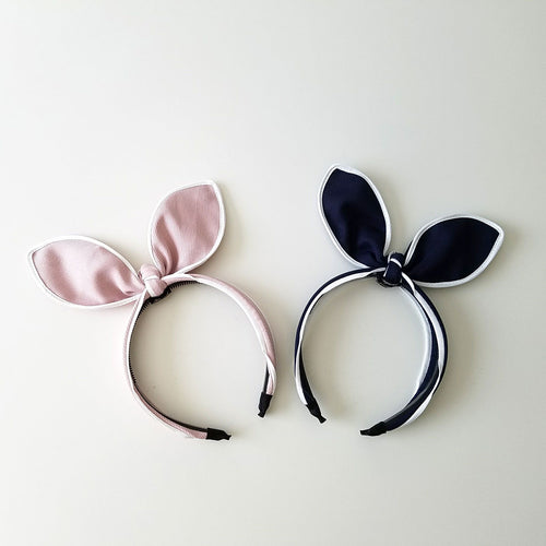 Bunny Ear Knotted Ribbon Fabric Hairband
