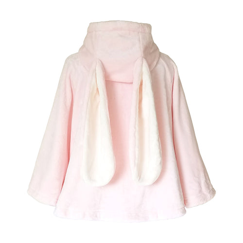 "Super Soft ""Cotton Candy Bunny"" Cape with Extra Long Bunny Ears"