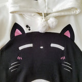 Dark Roast Plush Hoodie with Cat Ears