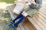 Japanese Preppy Ribbon Knee High Socks - 3 Colors
