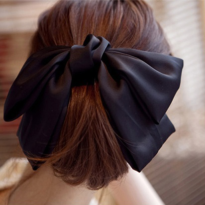 Silky Soft Big Hair Ribbon Barrette Clip