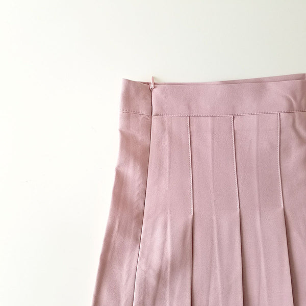 Sailor Pleated Mini-Skirt in Dusty Pink