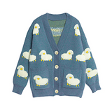 Sheep Cloud Valley Misty Blue Cardigan