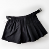Spicy Pop Black Pleated Mini-Skirt/Shorts with Belt and Pouch