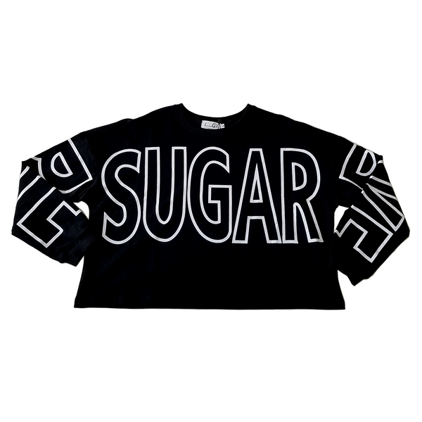"""SUGAR"" Long Sleeve Extra Wide Top"