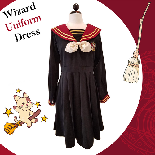 Wizard Boarding School Uniform Dress - Sailor Collar