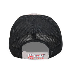 Mecum Mens Diner Dad Gray And Black Hat - Back