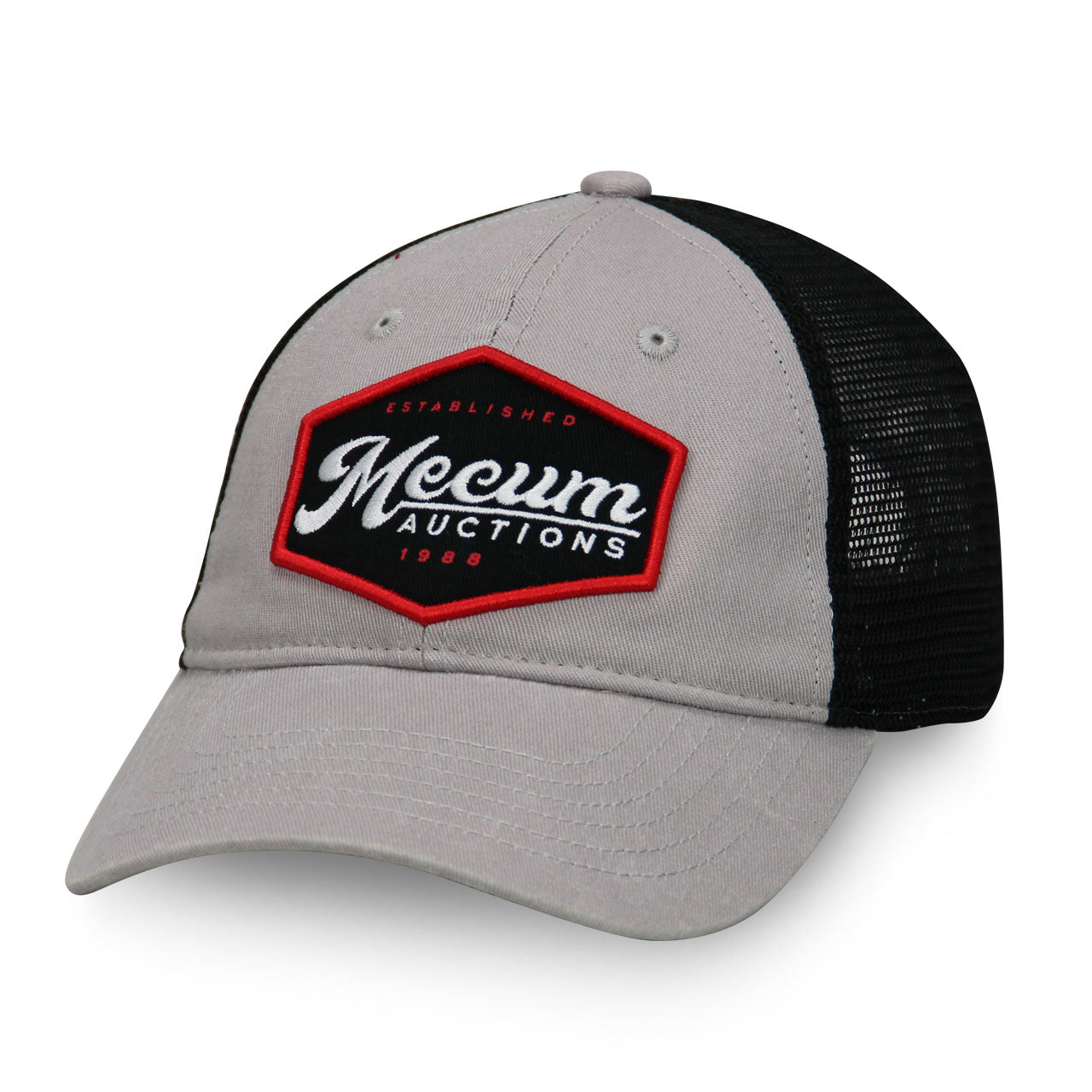 Mecum Mens Diner Dad Gray And Black Hat - Front
