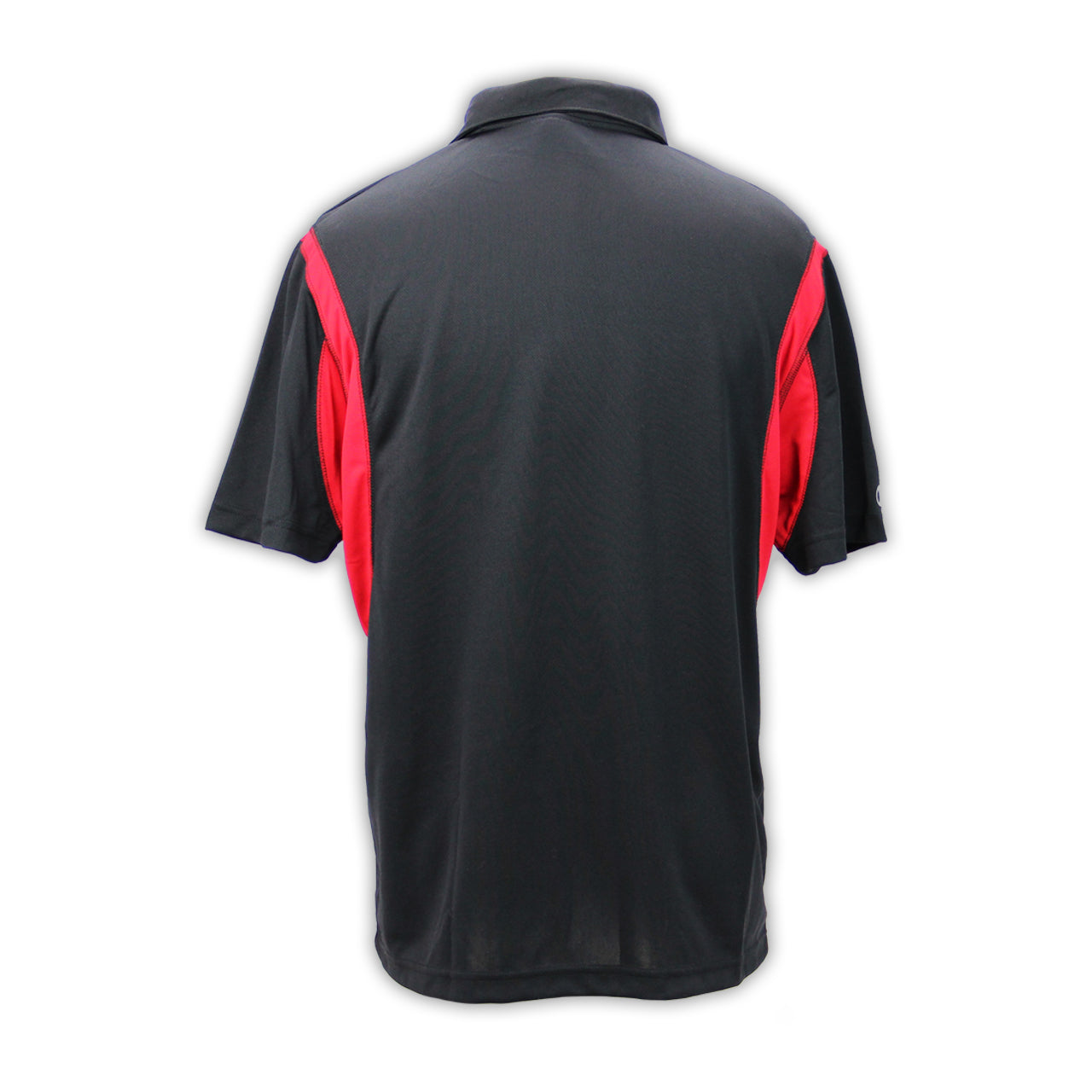 Mecum Mens Road Lines Red Black Polo - Back