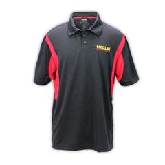 Mecum Mens Road Lines Red Black Polo - Front