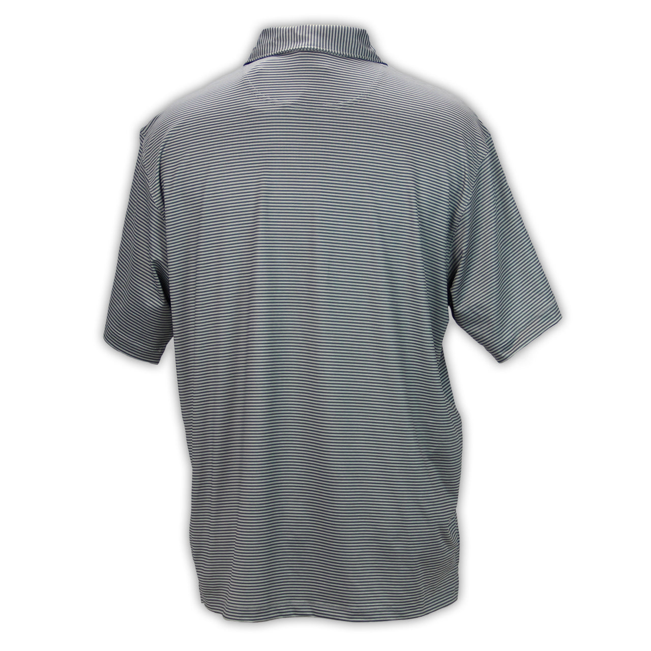 Mecum Mens Micro Striped Gray Polo - Back