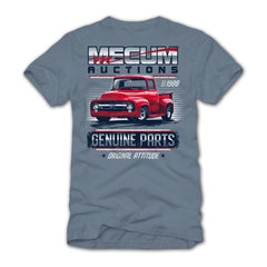 Mecum Mens Genuine Parts Short Sleeve T-Shirt - Back
