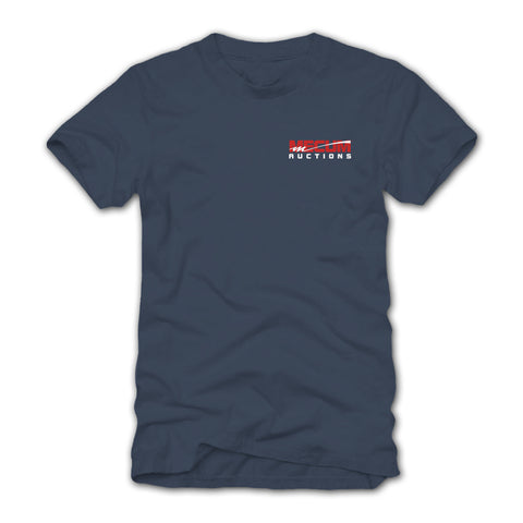 Photo of 2020 Mecum Men's Blue American Muscle T-Shirt front