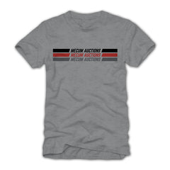 Photo of 2020 Mecum Men's Heather Grey Stripes T-Shirt front