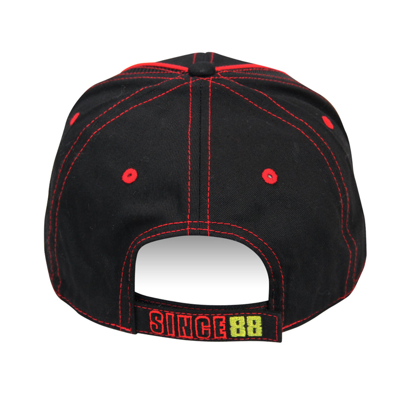2020 Mecum Men's Black and Red Carbon Hat Back