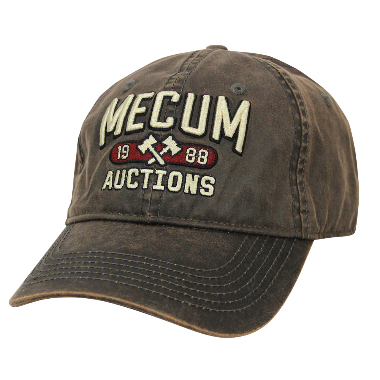 Picture of 2020 Mecum Men's Brown Waxed 1988 Hat Front