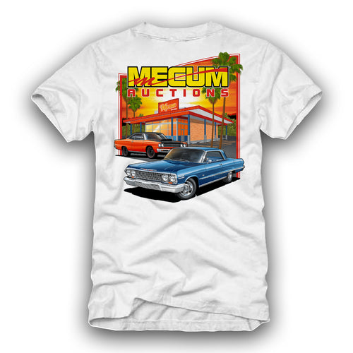 2021 Mecum Mens White In And Out T-Shirt - Back