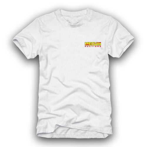 2021 Mecum Mens White In And Out T-Shirt - Front