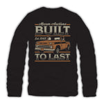 2021 Mecum Mens Black Built To Last T-Shirt - Back