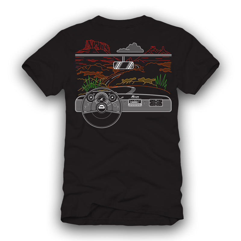 2021 Mecum Mens Black Crusin T-Shirt - Back