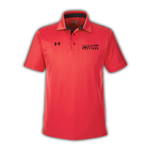 2021 Mecum Mens Red Under Armor Tech Polo
