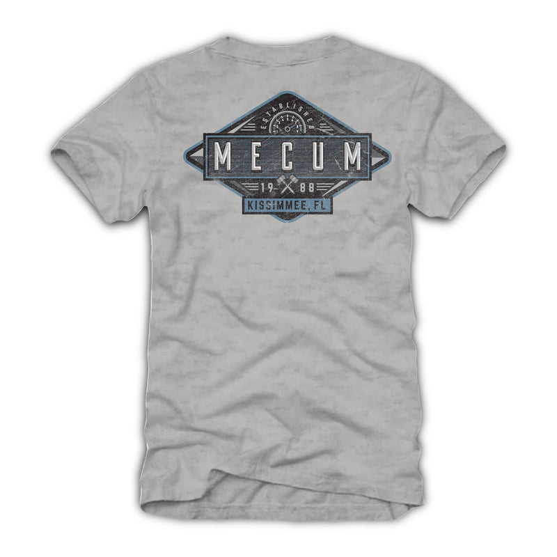 2021 Mecum Mens Gray Event Exclusive Kissimme Name Drop T-Shirt - Back