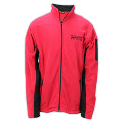 Mecum Mens Red Fleece Jacket - Front