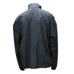 Mecum Mens Black Long Sleeve Windbreaker - Back