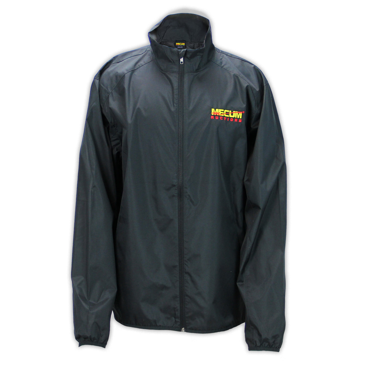 Mecum Mens Black Long Sleeve Windbreaker - Front