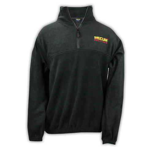Photo of 2020 Mecum Men's Black Fleece Quarter Zip Pullover front