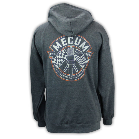 Picture of 2020 Mecum Men's Heather Grey Full Zip Hooded Sweatshirt back