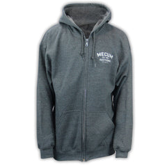 Picture of 2020 Mecum Men's Heather Grey Full Zip Hooded Sweatshirt front
