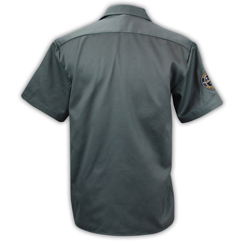 Photo of 2020 Mecum Men's Gray Shift Work Shirt back