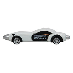 Mecum Novelty Logo White Car Pen - Front