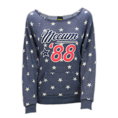 Mecum Womens Patriot Navy Star Pullover - Front