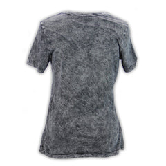 Mecum Womens Midnight Rider Acid Wash T-Shirt - Back