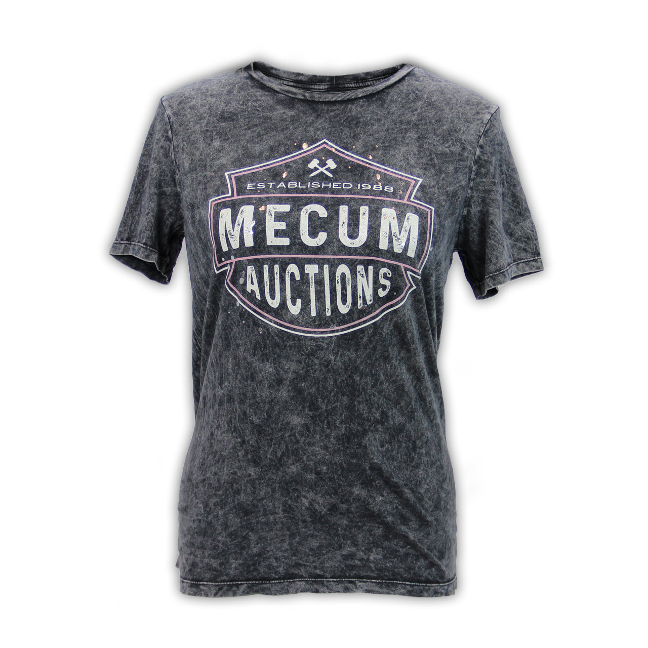 Mecum Womens Midnight Rider Acid Wash T-Shirt - Front