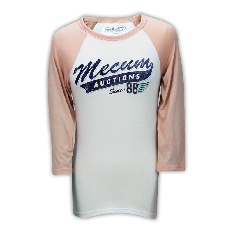 Mecum Womens Home Team Peach Baseball T-Shirt - Front