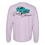 2021 Mecum Womens Pink Stang Long Sleeve T-Shirt - Back