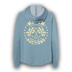 2021 Mecum Womens Blue Premium Quality Hoodie - Back